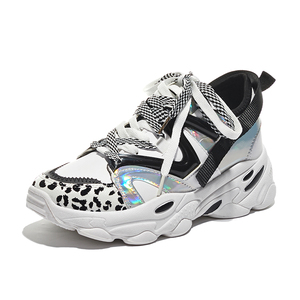 Image 5 - Women Shoes Platform Casual Sneakers Fashion High Increasing Ladies Shoes Chunky Dad Shoes Mixed Colors Scarpe Donna Footwear