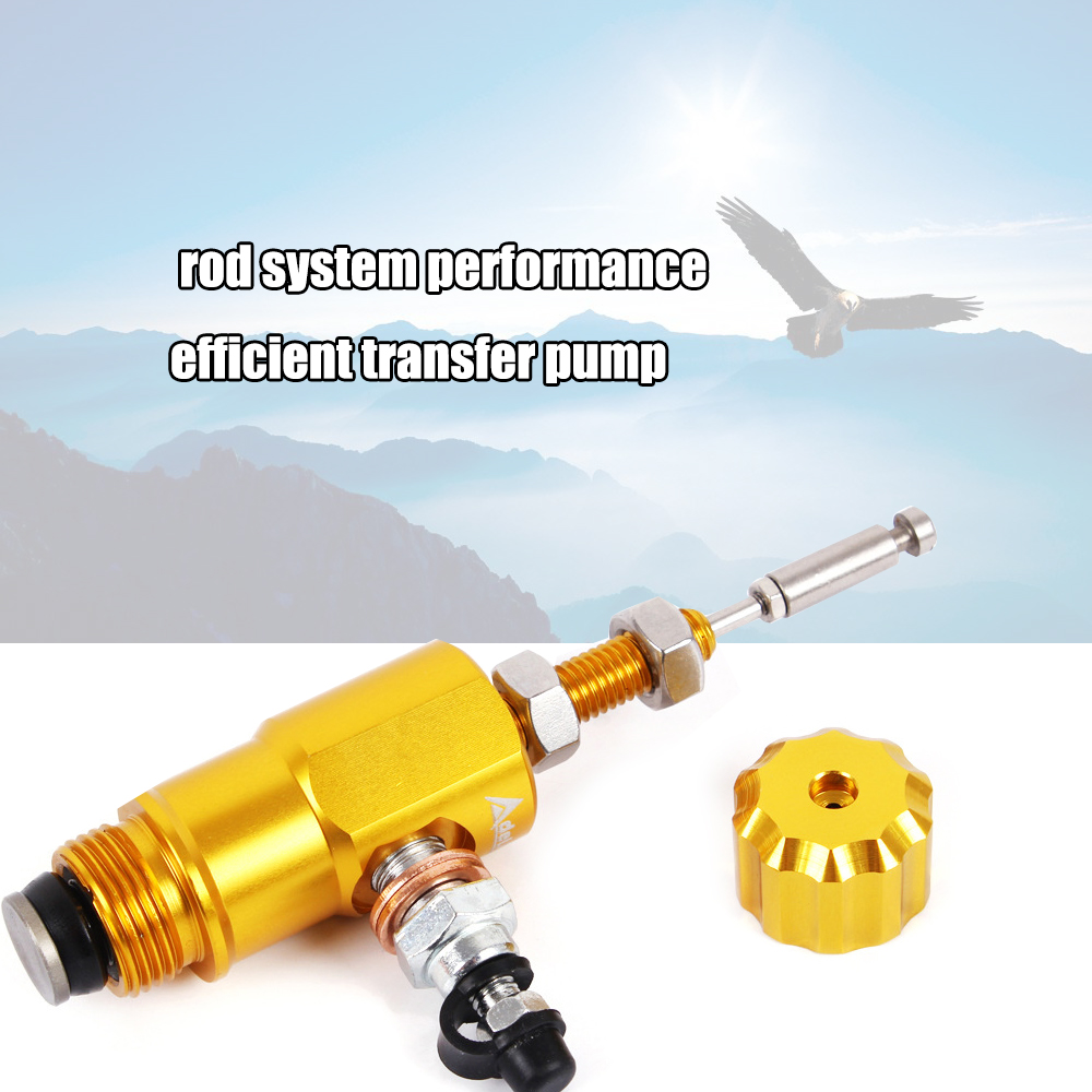 Motorcycle performance hydraulic brake clutch master cylinder rod system performance efficient transfer pump