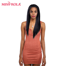 Miss Rola Hair Straight Wig Lace Front Human Hair Wigs For Black Women Brazilian  Pre Plucked With Baby Hair And Bangs Remy Hair