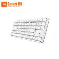 Оригинальный Xiaomi Yuemi MK01 Подсветка механическая клавиатура белый поддержки 87 клавиш красный переключатель