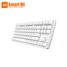Original Xiaomi Yuemi MK01 Backlight Mechanical Keyboard White Supporting 87 Key Red Switch