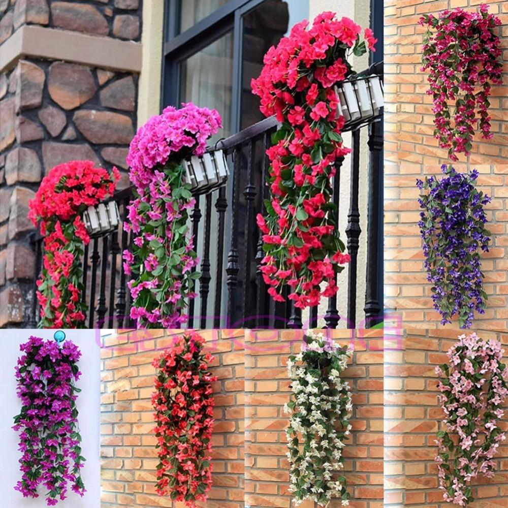 Online Shop 1 Bunch Of Artificial Violet Hanging Garland Vine Flower