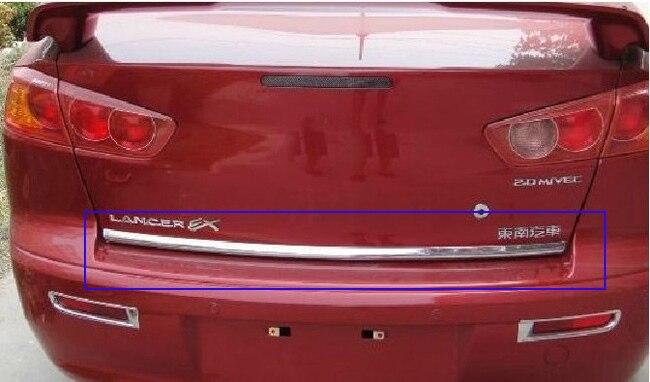 Stainless Steel Rear Trunk Lid Cover Trim for 2010 2013 Mitsubishi Lancer Lancer X Lancer Evo