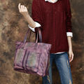 2017 Women Handbag Casual Totes Genuine Leather Top Handle Bags Shoulder Bag Woman Big Large Capacity Camouflage