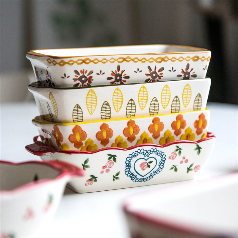 14.11US $ 19% OFF MDZF SWEETHOME Ceramic Baking Dish Roasting Lasagna Pan  Rectangular Dish Bakeware...