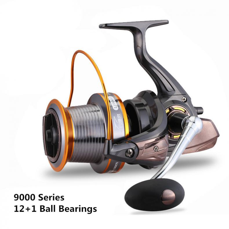 9000 Series 12+1 Ball Bearings full Metal Spool Jigging Trolling Long Shot Casting Spinning Big Sea Left / right Fishing Reel-in Fishing Reels from Sports & Entertainment