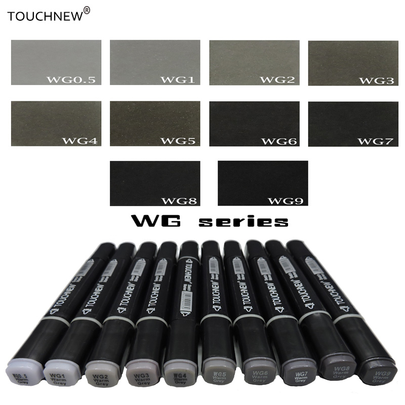 Touchnew gray tone Art Marker Set Alcohol Based brush pen liner Sketch Markers twin Drawing manga art supplies 168 colors set touchnew art markers marker alcohol based double end permanent twin marker pen with pen case