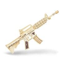Kids Gun Model Katonai stílus 3D Wood szimuláció M4A1 Assault modell pisztoly sztereoszkópos Puzzle Összeállítási modell cs Gun Toy Child