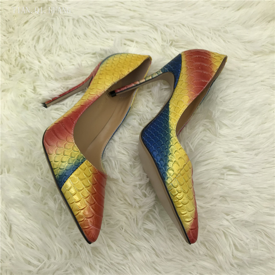 2018 Famous Brand Fashion Design Woman Sexy Pumps Shoes High Heels Women Nightclub Shoes High Quality Pumps Shoes TIAN.QI.HUANG 1