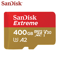 100% Original SanDisk Memory Card Max Reading Speed 160MB/S 400GB A2 U3 Micro SD Card V30 UHS I Extreme TF Card Microsd