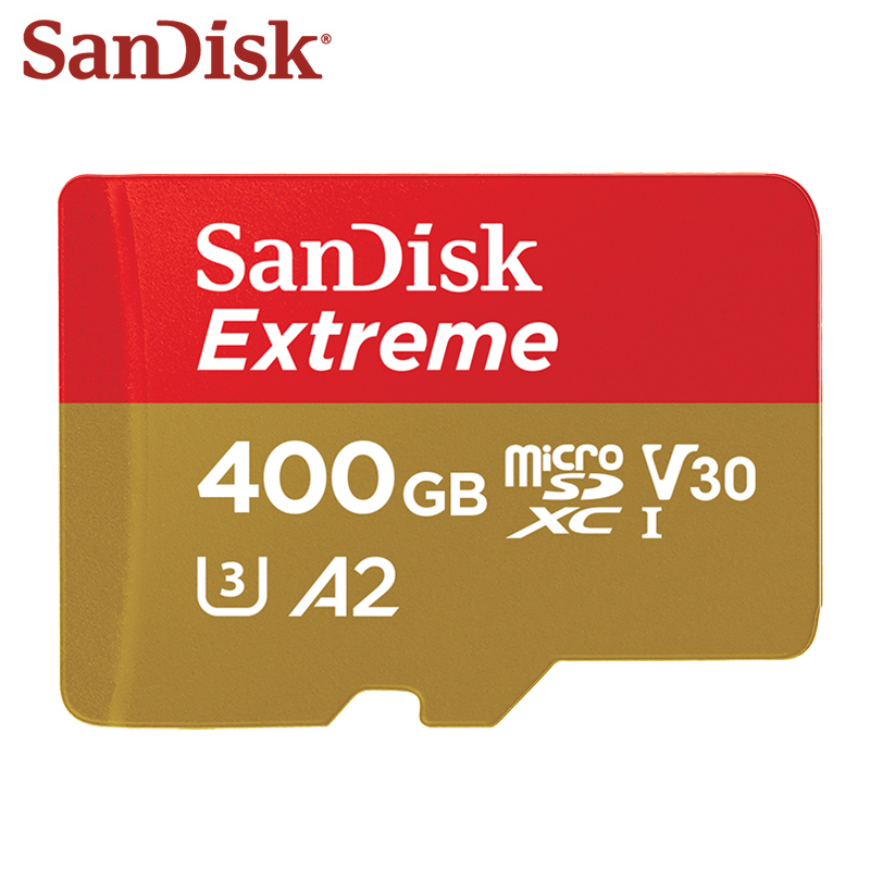 100% carte mémoire SanDisk originale vitesse de lecture Max 160 mo/s 400GB A2 U3 carte Micro SD V30 UHS-I carte TF extrême Microsd
