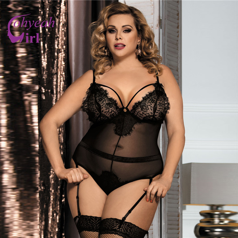 Sexy plus size corset lingerie valuable piece