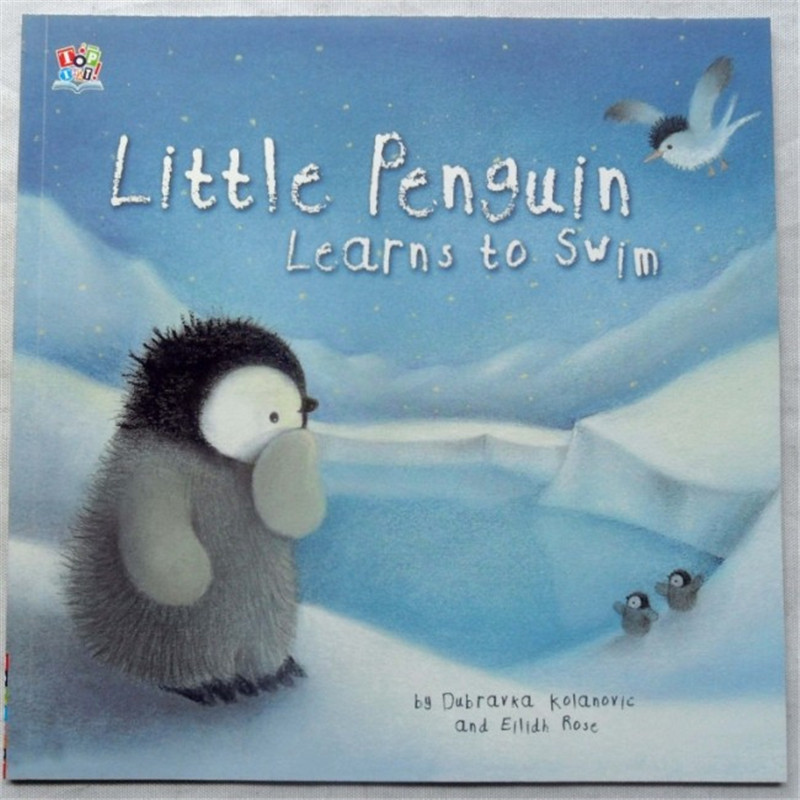 Little Penguin Learns to Swim Learning & Education books For kids baby English Picture Book for Children1pcs Free shipping купить