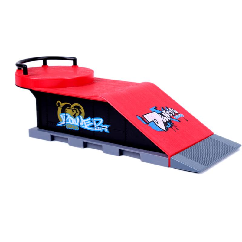 Skate Park Ramp Parts for Tech Deck Fingerboard Finger Board D Kids Skate Park Plastic ABS Skate Park Game Toy