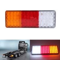 Rectangle HM 024 2Pcs 75 LED 12V DC Truck Trailer Boat Plastic Taillight High Quality
