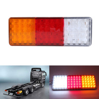 Rectangle HM 024 2Pcs 75 LED 12V DC Truck Trailer Boat Plastic Taillight High Quality