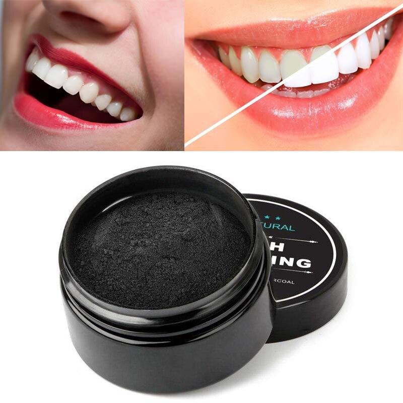 Дропшиппинг 30 г отбеливающий накидной порошок гигиена полости рта Очищающая Упаковка премиум активированный бамбуковый уголь порошок