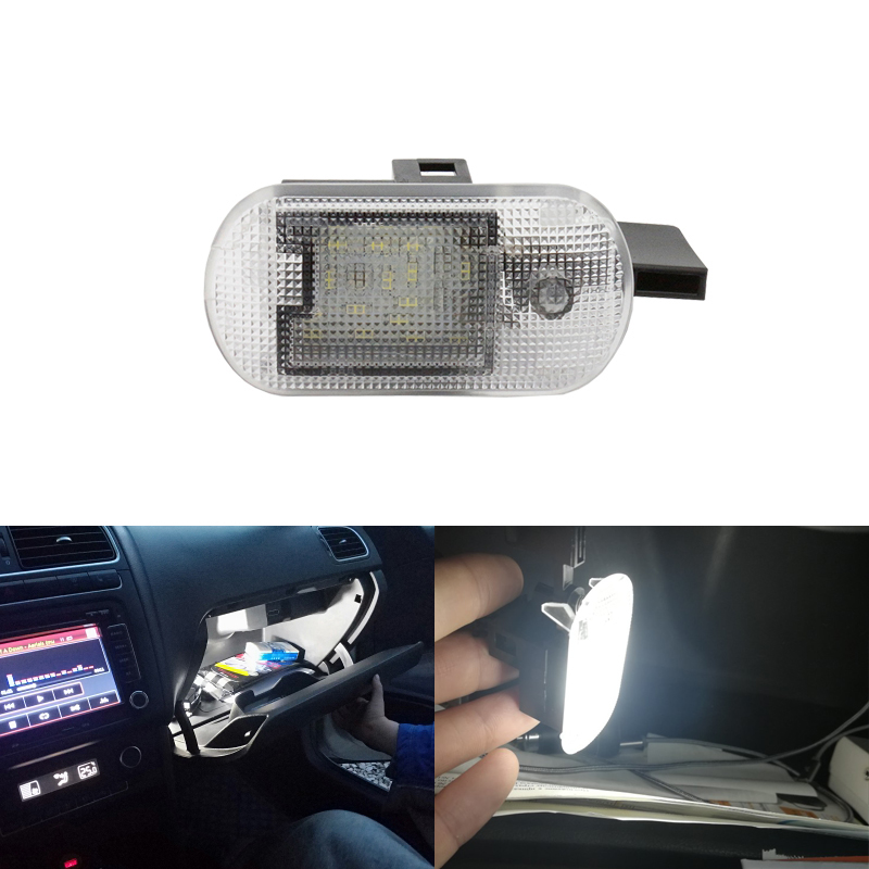Super White Led Glove Box Light Module For Beetle Golf MK4 Variant Bora Touran Suran Spacefox For Skoda Superb Fabia Octavia image