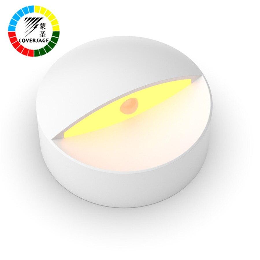 Coversage LED inteligente sensor de movimiento noche luz de emergencia pared para dormir del bebé dormitorio cocina baño aseo luces