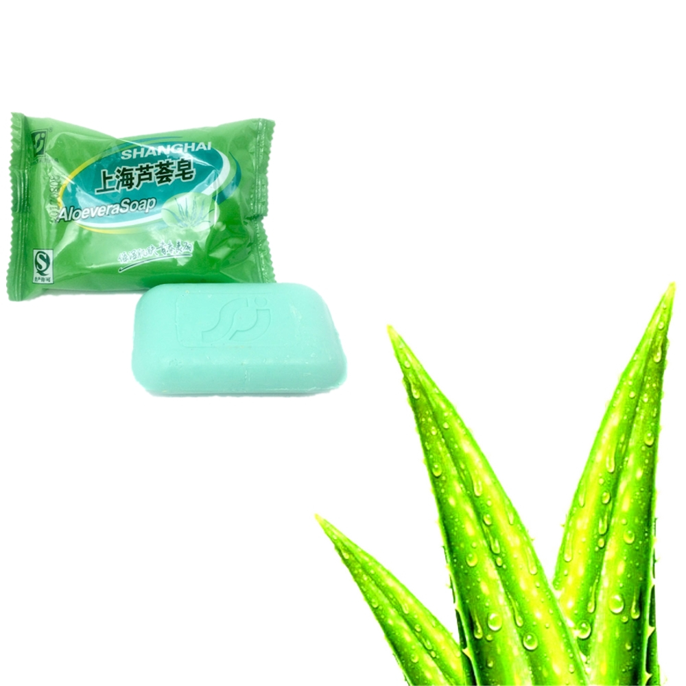 85g Shanghai Aloevera Soap Skin Conditions Acne Psoriasis Eczema Anti Fungus Bubble Bath Healthy