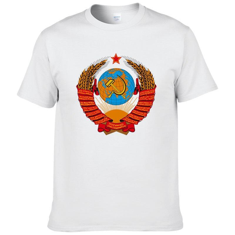 2017 New Arrival Men/women T Shirt CCCP USSR Soviet Russian KGB Hammer Sickle ARMY T-Shirt Fashion Design Printed Mens Tee #131