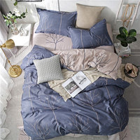 Nordic Deer Pineapple Geometric 4pcs Bed Cover Set Cartoon Duvet Cover Bed Sheets And Pillowcases Comforter Bedding Set 61001