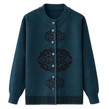 0058af0bd0 Duży rozmiar 5XL panie w średnim wieku dziergany sweter na co dzień topy  wiosna jesień luźny