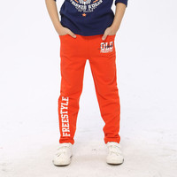 4 12Y Kids Harem Pants Cotton Baby Boys Girls Pants Casual 3 Colors Boys Trousers Letters