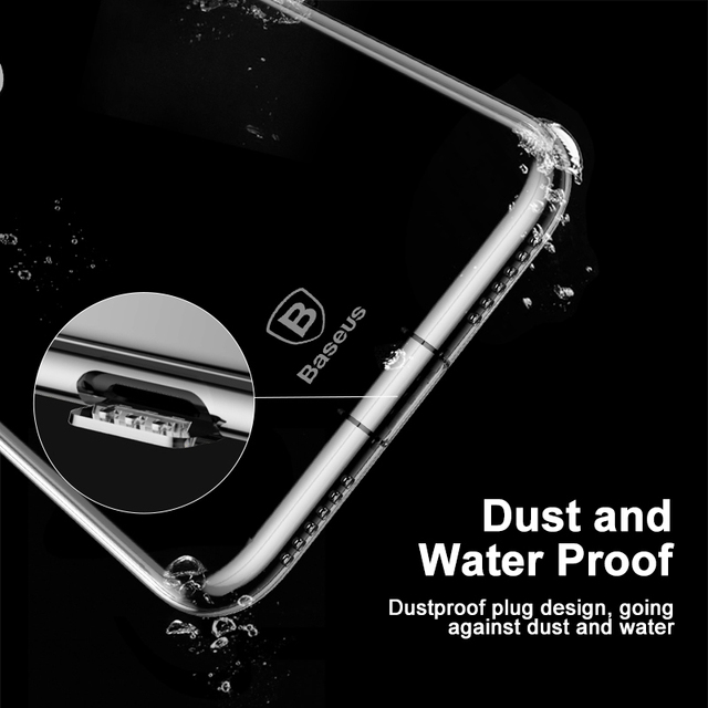 Baseus iPhone X Dirt-Resistant Ultra Thin Transparent Soft TPU Silicone Cover Case