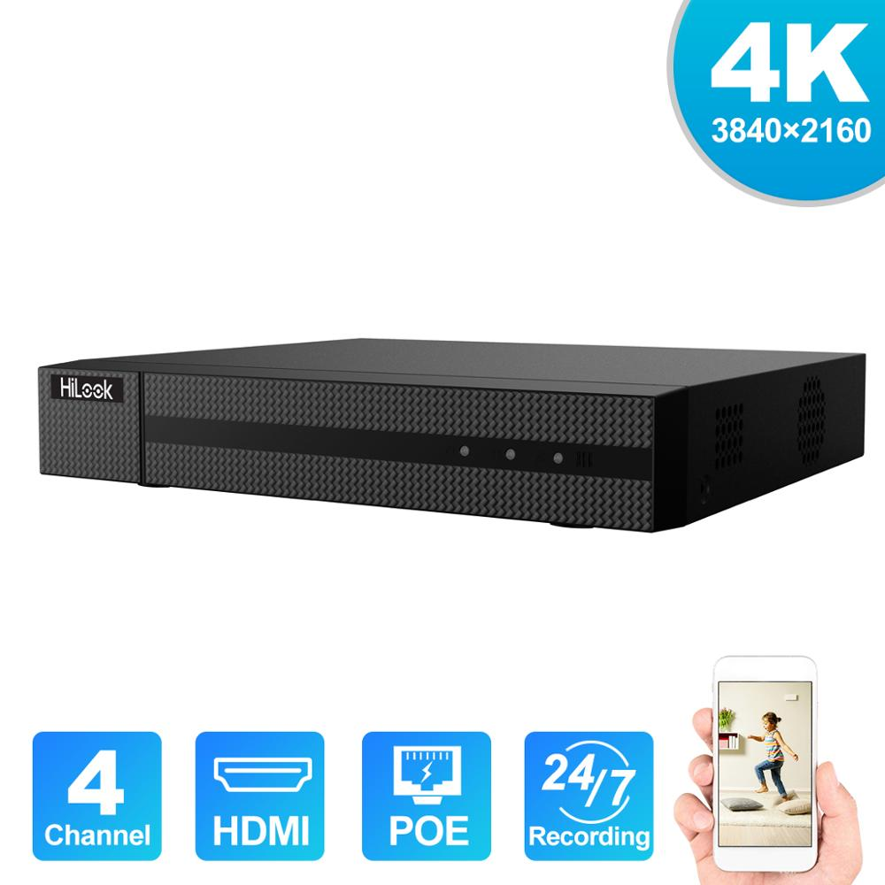 HiLook 4/8ch CCTV System Onvif NVR-104MH-C/4 P & NVR-104MH-C/4 P Hikvision Plug & Play 4/8 kanal 4K PoE NVR 1 SATA VCA Erkennung