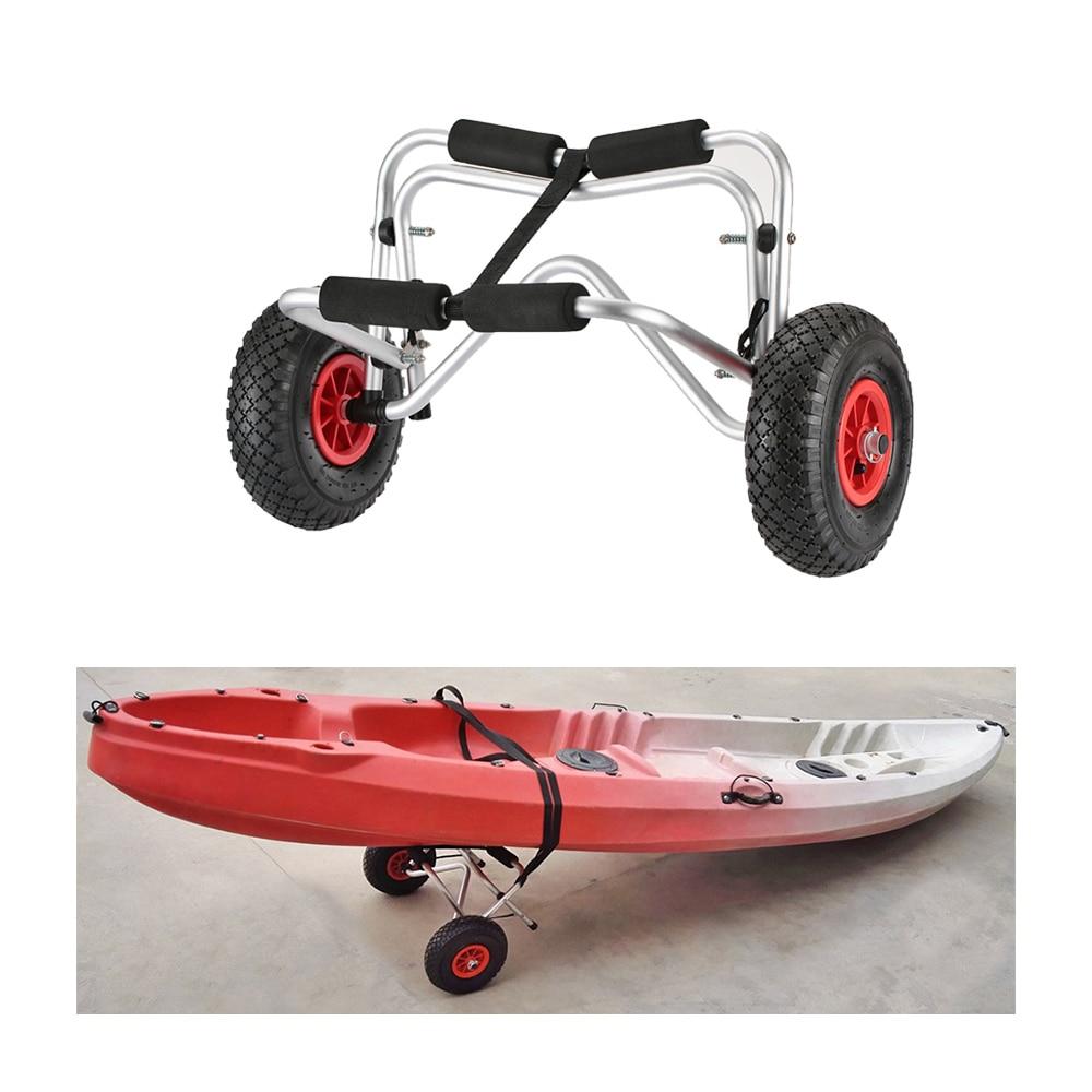 Porte-Kayak Chariot 75 kg Capacité De Chargement Pliable Chariot De Kayak d'économie d'énergie à Deux roues Chariot de Transporteur pour Kayak bateau de canoë