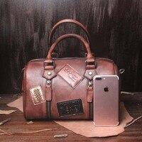 Топ Класс из натуральной коровьей кожи женская сумка мешок Бостон высокое качество дизайнер Элитный бренд Бостон сумка Для женщин сумка