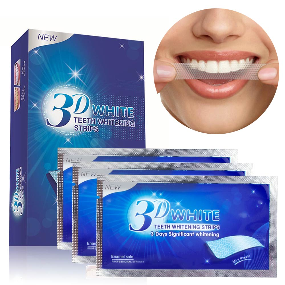28Pcs/14Pair 3D Teeth Whitening Strips Dentist Tools Dental Veneers White Gel Tooth Whitener For False Teeth Tooth Stripes Smile