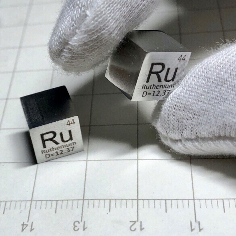 99 95 High Purity Ruthenium Ru 11 5g Carved Element Periodic Table 10mm Cube