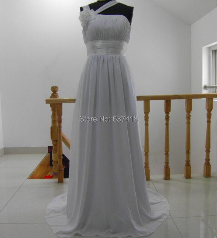 Real Image White Wedding Beach Dress Cheap China Wedding Dress Plus Size Lace up Back Vestidos de Novia Baratos