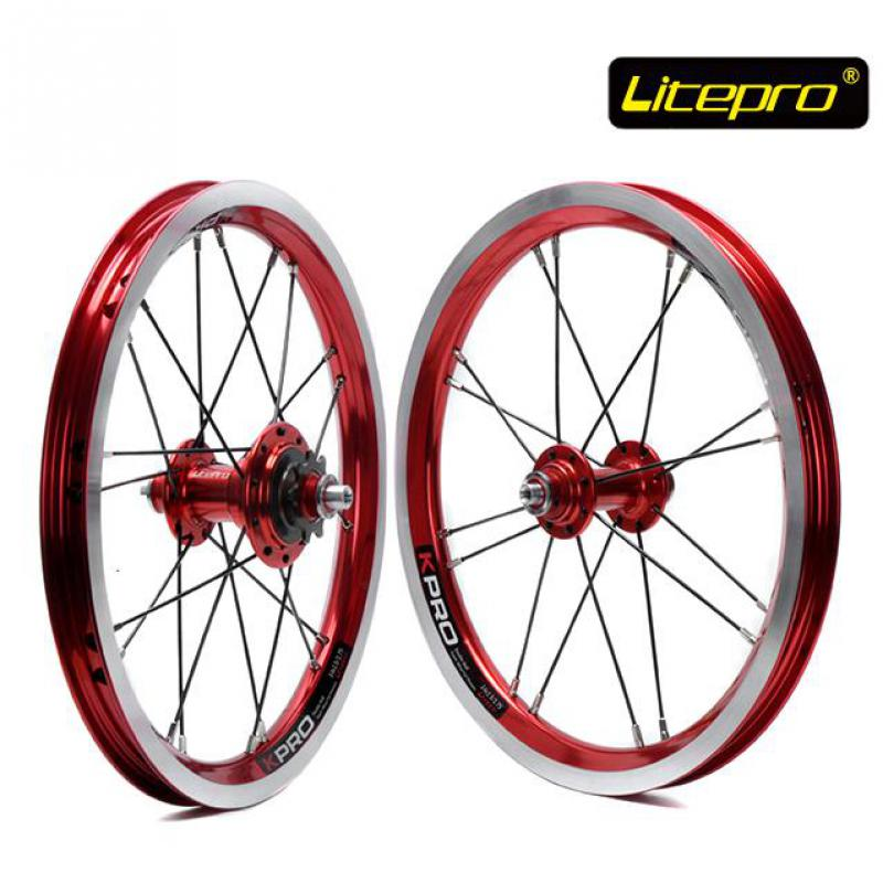 цена на Litepro kpro 14 inch Folding Bike Wheels 412 BMX wheel set 16 20 Holes Single Speed Bicycle Wheelset