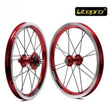 Litepro kpro 14 inch Folding Bike Wheels 412 BMX wheel set 16 20 Holes Single Speed Bicycle Wheelset