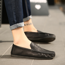 Fashion High Quality Casual Driving Shoes Leather Loafers Men Shoes 2018 New Men Loafers Luxury Flats Shoes Men   5