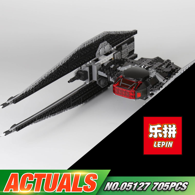Lepin 05127 705Pcs Star Plan Series The Tie Model Fighter Set 75179 Building Blocks Bricks Educational Toys As Christmas Gifts lepin 16007 2141pcs monster fighter the haunted house model set building kits model compatible with 10228 educational toys gifts