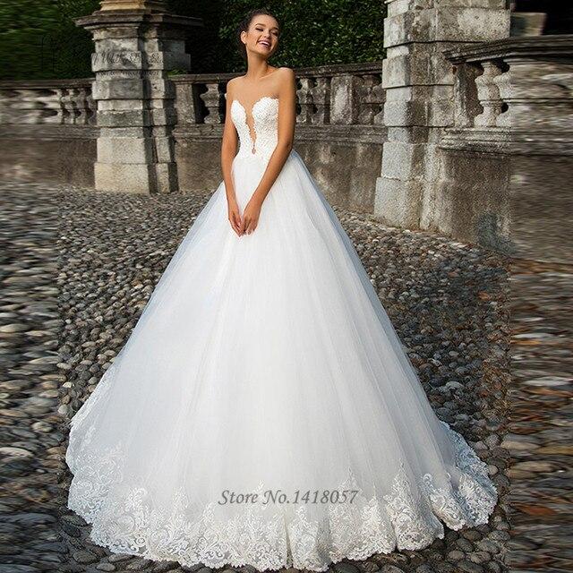 Sexy Arabic Bridal Dresses 2017 Vestido De Noiva Plus Size Wedding Dress Turkey Tank Open Back