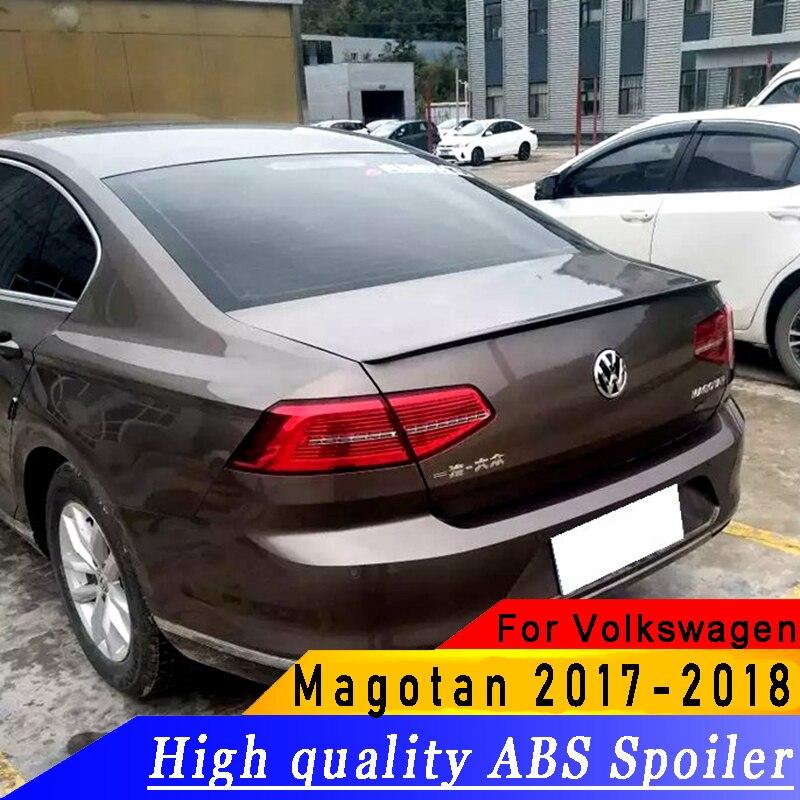 ABS high quality For Volkswagen passat Magotan spoiler 2017-2018 year spoiler primer or DIY color car rear wing spoiler