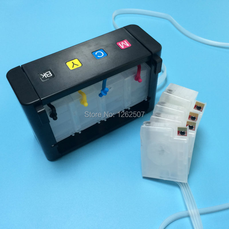 Continuous ink supply system printer ciss with auto reset chip for hp 932 933 932xl 933xl officejet 6100 6600 6700 7110 7610 arc auto reset chip for hp950 refillable ink cartrige ciss cis 4pcs chips black cyan magenta yellow show ink level