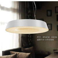 Modern Office Lighting Hollow LED Single Head Pendant Lights Creative Round Iron Bar Desk Lamp Library