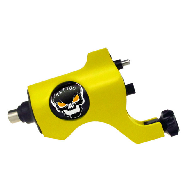 Tattoo Rotary Motor 1pcs Alloy Rotary Comparable Bishop Skull Tattoo Machine Gun Liner Shader RCA Connection 7 Colors Available