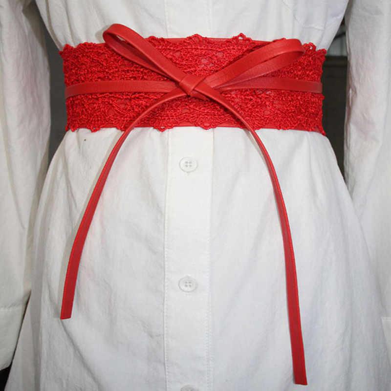 Mới Cao Cấp Thương Hiệu Nhà Thiết Kế Dây Ren Thun Quần Jean Thắt Lưng Nữ Áo Cưới Dây Thắt Lưng Đen Cho Phụ Nữ Thắt Lưng Váy