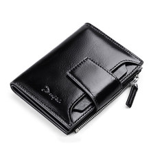 Wallet Genuine Leather Men Wallets Short Coin Purse Small Vintage Wallet Cowhide Leather Card Holder Pocket Purse Men Wallets все цены