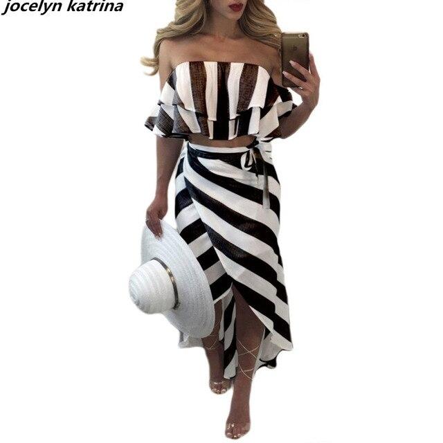Jocelyn katrina marke mode Gestreiften weg von der Schulter ...
