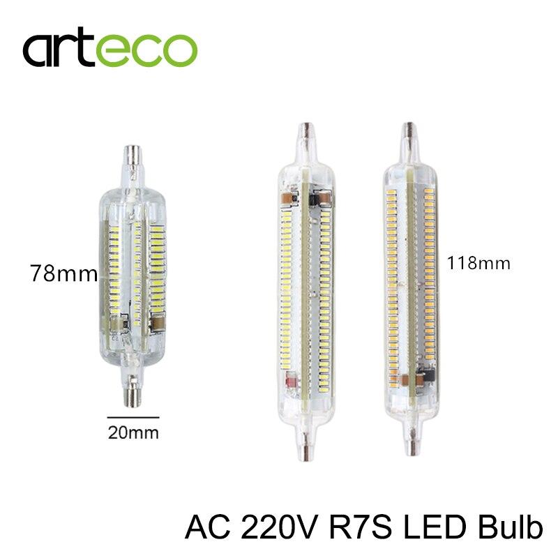 ac 220 silicon r7s led bulb lamp 8w 15w smd 3014 led 78mm 118mm led r7s light bulb energy saving. Black Bedroom Furniture Sets. Home Design Ideas