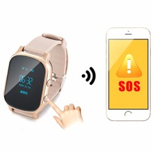 1pc Children Positioning Smart Watch Phone GPS Positioning Students old people 500 mA Silicone crystal glass