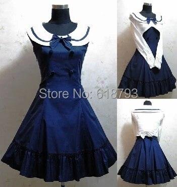 2017 nouvelle belle gothique Lolita robe sans manches chemise pour les femmes Cosplay costumes rétro jupe